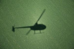 fotografía aérea desde helicóptero