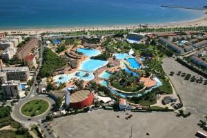 fotografía aérea propiedad comercial parque acuático