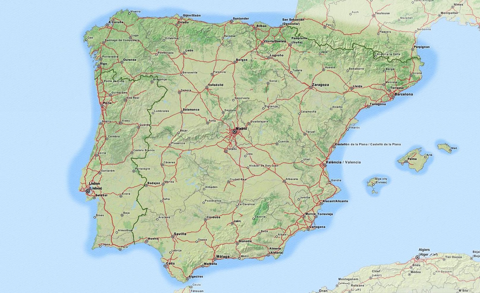 Cubrimos todo el territorio de la península ibérica, Baleares y el sur de Francia